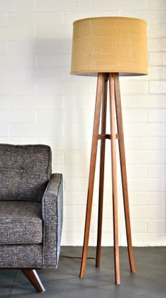 Do you want to give your living room some life? This tripod floor lamps will make wonders for your home interior decor. Mustard Living Rooms, Living Room Grey, Home Living Room, Living Room Decor, Ideas Habitaciones, Diy Lampe, Deco Design, Living Room Lighting, Room Lights