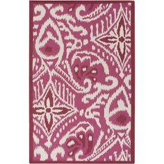 Surya Marseille Printed Burgundy & Hot Pink Wool Rug - Save 15% Off all Surya with code SURYA15 thru 3/31/15