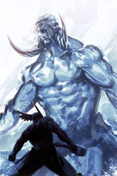 Thor facing a frost giant