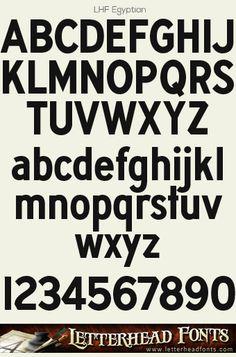 Letterhead Fonts / LHF Egyptian font / Old Fashioned Fonts