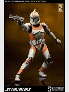 Star Wars Deluxe Sixth Scale Actionfigur 212th Clone Trooper 1:6 Sideshow Exclusive 32 cm