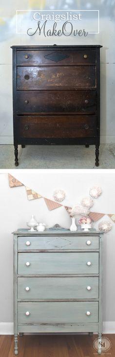 A. Craigslist Dresser Makeover - Before&After