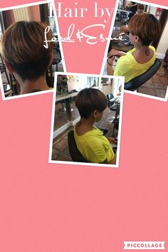 Hair by #LordandEsmé call today for your haircut, Haircolouring we have availability this week!! #pixie #alamoheightsalon #shorthair #haircolouring #dimension #highlights #hair #hairapy #hairstyle #hairmakeover #summerhair #haircut #creativehaircut #caramels #golds #longpixie #short