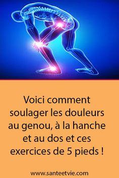 Voici comment soulager les douleurs au genou, à la hanche et au dos et ces exercices de 5 pieds ! Voici, Cancer, Gym, Sports, Movies, Movie Posters, Yoga Exercises, Natural Remedies, Hs Sports