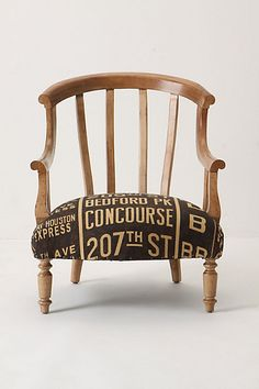 What a beautiful chair! Would need a different fabric for my office (unless, of course, you specialize in working with airline employees . what a beautiful chair! Unique Furniture, Home Furniture, Furniture Design, Eclectic Furniture, Funky Furniture, Upcycled Furniture, Furniture Ideas, Do It Yourself Design, Love Chair