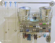 I like this earring storage idea