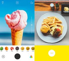 Foodie, a dedicated camera app for food photos which offers users a simple and ultimate way of functional experience, focusing on true nature food through beautiful filters. Best Apps, Food Photo, Food Inspiration, Ux Design, Ethnic Recipes, Photos, Food, Pictures, Photographs