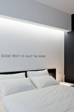 good rest is half of the work Indirect lighting, Bed'n Design hotel by Giuseppe Merendino _ Design Hotel, House Design, Interior Modern, Interior Architecture, Interior Design, Home Bedroom, Modern Bedroom, Master Bedroom, Bedroom Ideas