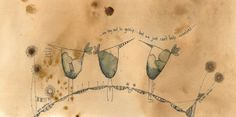 ARTFINDER: Chirpy Chirpy Cheep Cheep by Jilly Henderson - 'Chirpy Chirpy Cheep Cheep' is an original drawing in ink and pencil on hand stained paper. Measuring 290mm x 140mm this charming study shows that even birds...