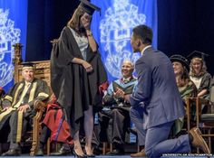 Student proposes to girlfriend during graduation ceremony @unisouthampton http://bbc.in/1Va1693