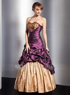 Quinceanera Dresses - $160.49 - A-Line/Princess Sweetheart Floor-Length Taffeta Quinceanera Dress With Ruffle Lace Beading Flower(s) (021014747) http://jjshouse.com/A-Line-Princess-Sweetheart-Floor-Length-Taffeta-Quinceanera-Dress-With-Ruffle-Lace-Beading-Flower-S-021014747-g14747?ver=xdegc7h0