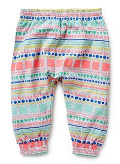 Baby Girls Pants & Shorts | Scandi Geo Harem Pants | Seed Heritage