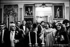Wedding guests at Maunsel House in Somerset -