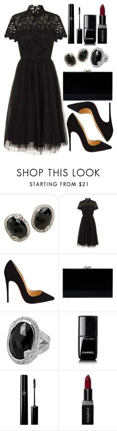 """Untitled #4687"" by natalyasidunova ❤ liked on Polyvore featuring Stephen Dweck, Chi Chi, Christian Louboutin, Charlotte Olympia, Chanel and Smashbox"