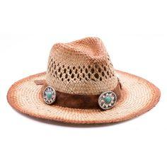 Sombrero  Boho chic con piel y medallones a juego con la pulsera Boho piel  y el anillo Boho turquesa. Shivadara · Boho ☮ Complementos f7b88f9920e