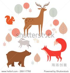 forest animals colle...