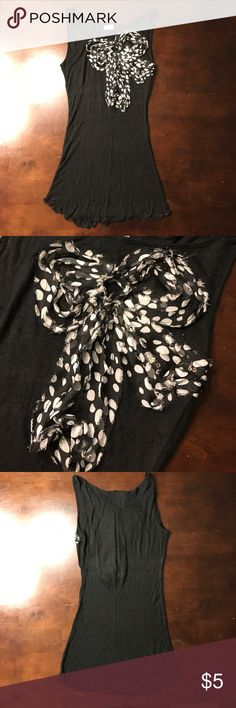 Black top Black top with a flower bow h.i.p. Tops Blouses