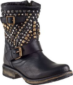 Steve Madden Marcoo Biker Boot Black Leather on shopstyle.com