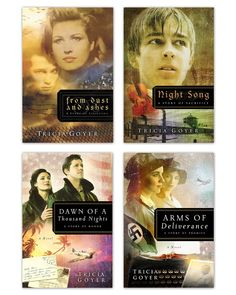 This set includes all four books of the Tricia Goyer WWII series: From Dust and Ashes, Night Song, Dawn of a Thousand Nights, and Arms of Deliverance.