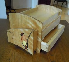 """Japanese-Waxwing small drawers. Made with """"RENGESO"""" Japanese bespoke cabinet makers. www.rengeso.jp/"""