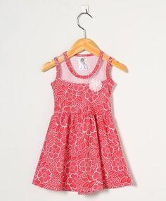 Vestido Bebê Floral Vermelho