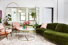 1791 Global, Eclectic, Bohemian, Midcentury, Modern & Vintage Dining Room & Living Room Design Ideas for 2019 – domino Living Room Designs, Living Room Decor, Living Spaces, Living Rooms, Living Area, Anthropologie, Office Space Design, Picture Design, Colorful Interiors