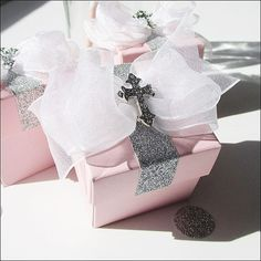 Girls Baptism Or Communion Favor Boxes by JaclynPetersDesigns