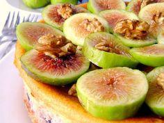 Ricetta Dessert : Il cheesecake autunnale all'uva, fichi e noci da Sweetcook
