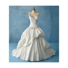 This is my dream wedding dress. It was designed by Alfred Angelo. It is part of his Disney Princess collection.