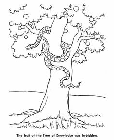 garden of eden coloring pages free printable | Adam and Eve (Garden of Eden) | Free Printable Coloring ...