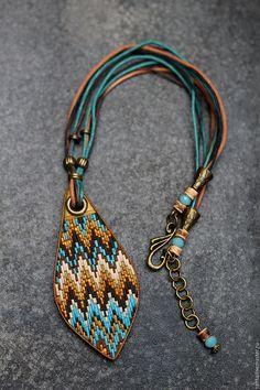 Polymer clay pendant | Купить кулон из полимерной глины барджелло уютное 2 - разноцветный, кулон, круный кулон, волшебство