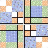 Four Squares 2 (used this block to make Caleb's baby quilt-s.- Four Squares 2 (used this block to make Caleb's baby quilt-splendid result) - Quilt Baby, Baby Quilt Patterns, Rag Quilt, Scrappy Quilts, Patchwork Quilting, Crazy Quilting, Quilt Blocks, Quilting Patterns, Baby Quilts Easy