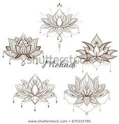 Filigree Lotus Flower Vector Handdrawn Illustration Stock-Vektorgrafik (Lizenzfrei) 675337795 Easy F Flower Tattoo Foot, Small Flower Tattoos, Flower Tattoo Designs, Small Tattoos, Lotus Tattoo Back, Lotus Flower Quote, Lotus Flower Mandala, Lotus Flower Pictures, Lotus Flower Design