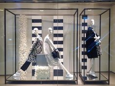 """MAXMARA, Shanghai, China, """"Never underestimate the power of the perfect stripe"""", photo by Stephanie Moison, pinned by Ton van der Veer"""