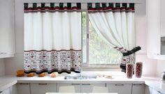 Las cortinas en la cocina
