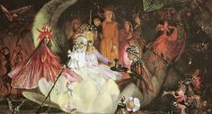 Fairy Rings and Toadstools, Richard Doyle Titania Sleeping, Richard Dadd The Fairy's Barque, John Anster Fitzgerald Art And Illustration, Illustrations, Fantasy Kunst, Fantasy Art, Traditional Witchcraft, Fairy Paintings, Cicely Mary Barker, Hieronymus Bosch, Ouvrages D'art