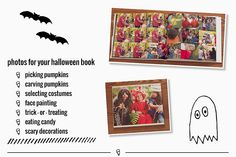 Creating a Halloween themed photo book.  Tips from Stacey Wiseman & Pamela Cravatt