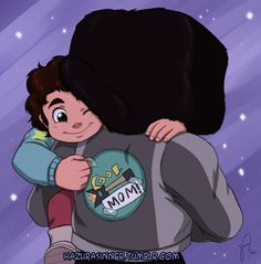 """""""Fixed it!""""When I watched the episode """"Maximum Capacity"""" I couldn't stop thinking how that jacket Garnet wore could use just a tiny change to be perfect. So I thought Steven would improvise. Please reblog don't repost!Steven Universe © Rebecca SugarOn my Deviantart page: http://hazurasinner.deviantart.com/art/Fixed-it-519039433"""