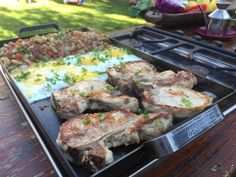Planchetta 2 hornallas Food Truck, Pork, Mexican, Camping, Meat, Gourmet, Puff Pastry Recipes, Sheet Metal, Grilling