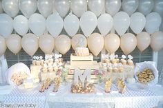 Balloon Party Table Backdrop - so easy, yet so impactful!