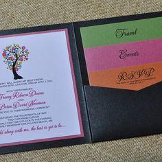 multi-colour invitation