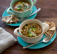 Hearty Southwest Lentil Soup with Veggies
