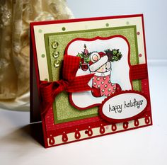 Christmas Card  Handmade Greeting Card   Happy by CardInspired