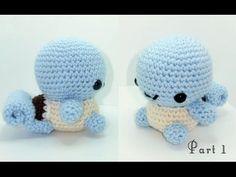 (32) Squirtle Amigurumi Crochet Tutuorial Part 1 - YouTube