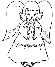 Free Christmas Angel Coloring Pages Printable For KidsPrintabel Kid
