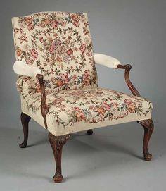 Georgian style needlepoint Gainsborough Chair