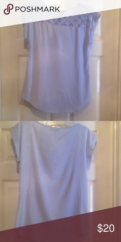 Express Lattice Front Shirt NWT Express Small Lattice Front Top. Lightweight and perfect for spring or summer! Express Tops Blouses