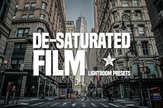 Desaturated Film Lightroom Presets by NUUGraphics on Creative Market
