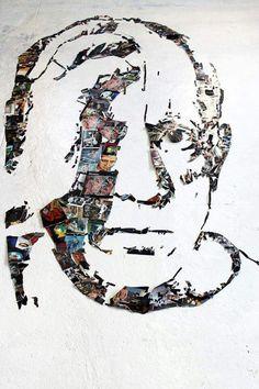 "Christian Pierini, ""Pablo Picasso"" 3d Portrait, Portraits, Abstract Line Art, Lost In Translation, Pablo Picasso, Christian, Art, Head Shots, Portrait Photography"