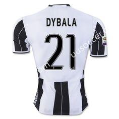 2016/17 Juventus DYBALA Home White Black Thailand Soccer Jersey AAA